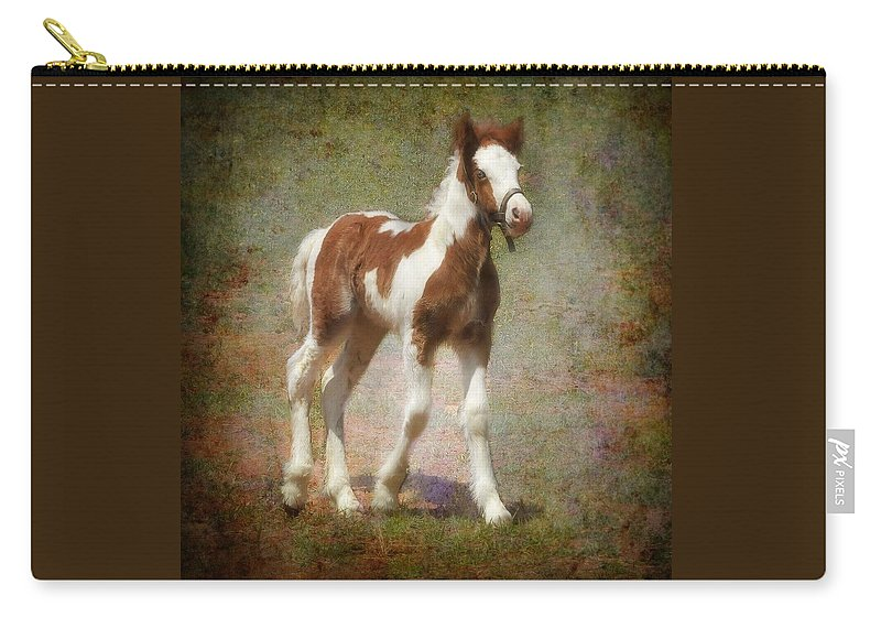 Gypsy Horse Carry-all Pouch featuring the mixed media Bella Rose by Fran J Scott