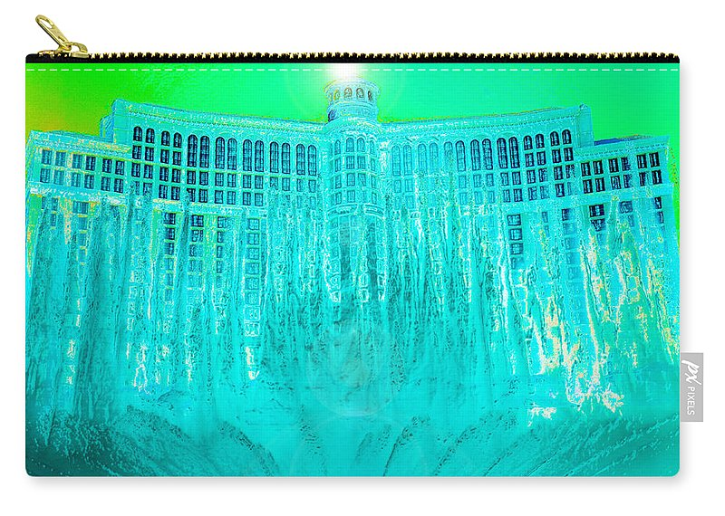 Nevada Carry-all Pouch featuring the painting Bellagio Fountains Las Vegas by David Lee Thompson