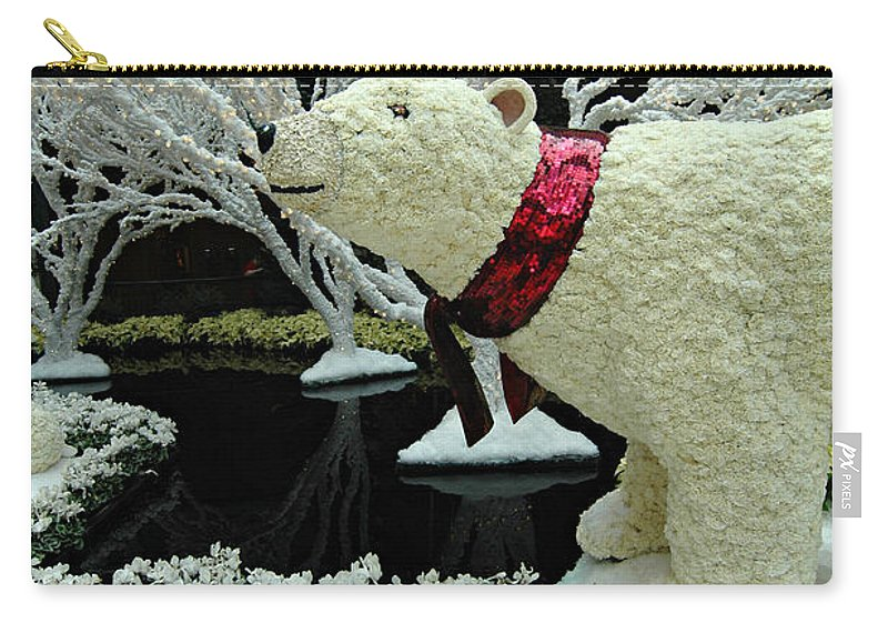 Bellagio Hotel Carry-all Pouch featuring the photograph Bellagio Polar Bear by Mike Nellums