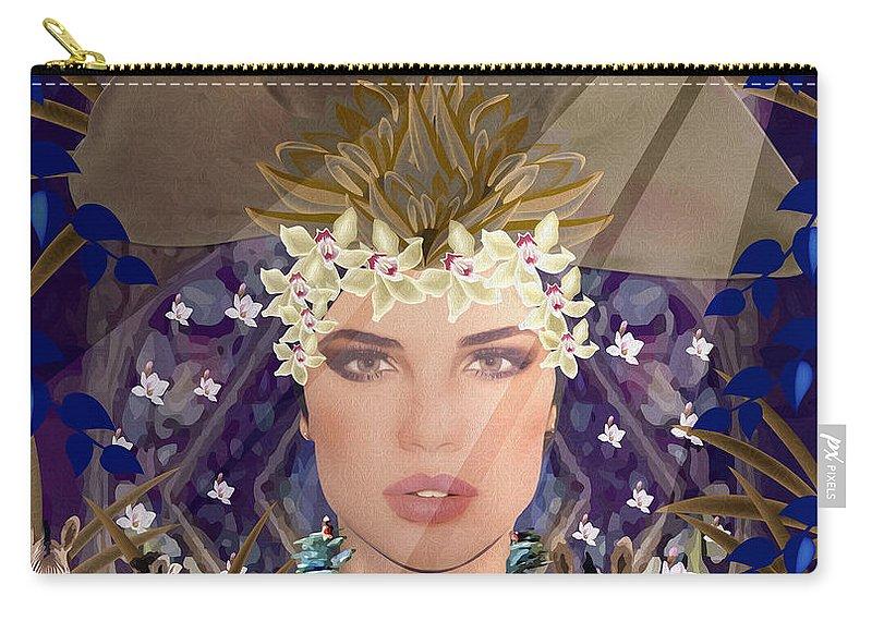 Beauty Carry-all Pouch featuring the mixed media Belleza Terrosa by Gabriela Delgado