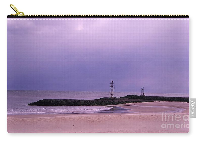 Beach Carry-all Pouch featuring the photograph Belmar Inlet On A December Day by Eric Schiabor