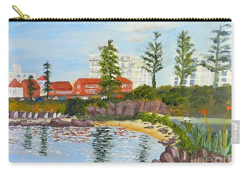 Impressionism Carry-all Pouch featuring the painting Belmore Basin From The North Sea Wall by Pamela Meredith