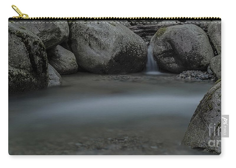Waterfalls Carry-all Pouch featuring the photograph Below The Falls by Rod Wiens