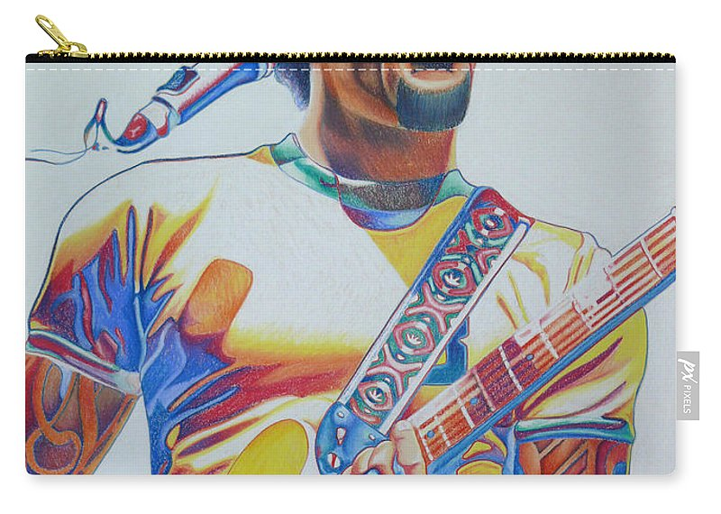 Ben Harper Carry-all Pouch featuring the drawing Ben Harper by Joshua Morton
