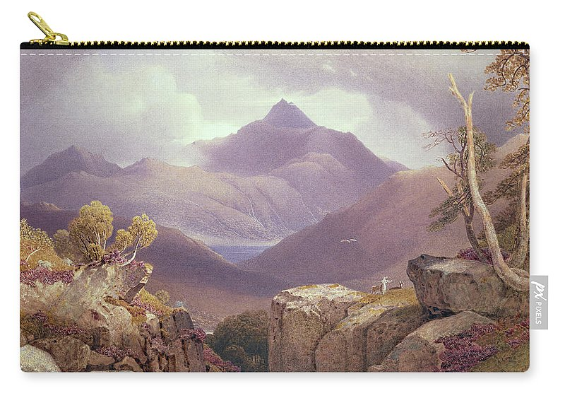Mountain Carry-all Pouch featuring the drawing Ben Lomond by George Fennel Robson