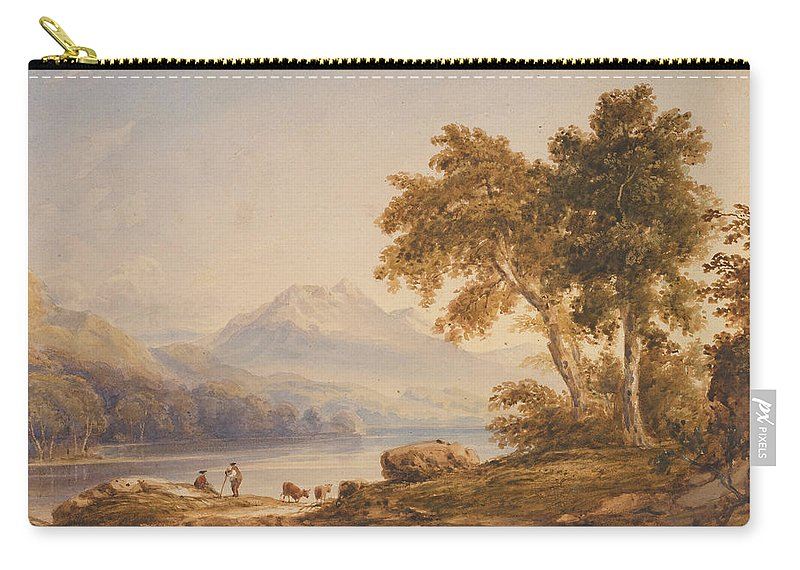 Ben Carry-all Pouch featuring the painting Ben Vorlich And Loch Lomond by Anthony Vandyke Copley Fielding