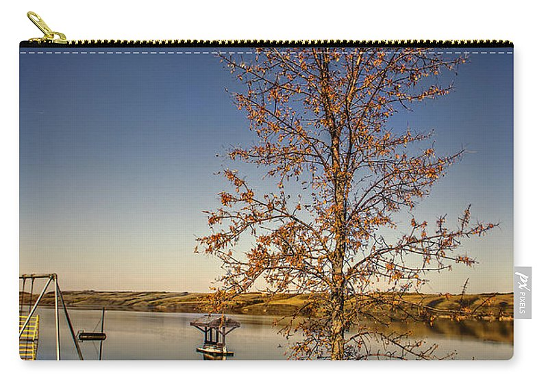 Landscape Carry-all Pouch featuring the photograph Lonely Friends - Bench And Tree by Viktor Birkus