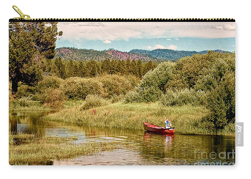 Digital Carry-all Pouch featuring the digital art Bend/sunriver Thousand Trails by Bob and Nadine Johnston