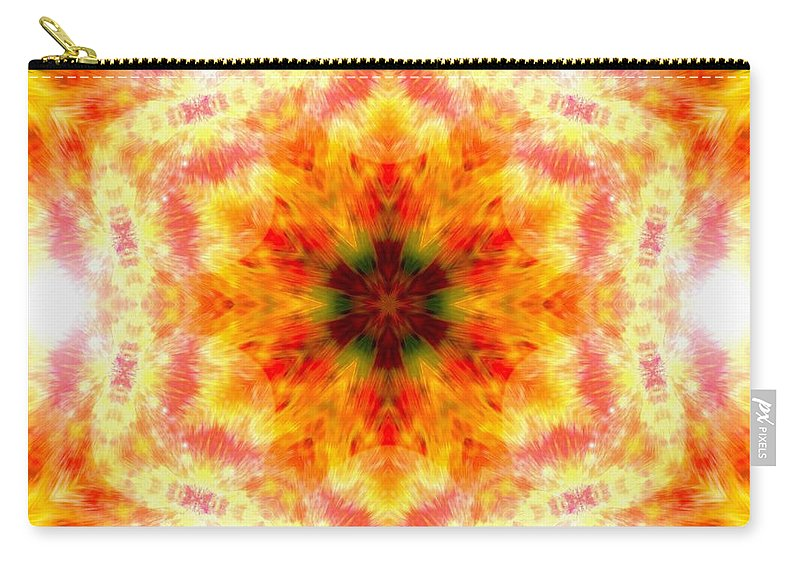 Sacredlife Mandalas Carry-all Pouch featuring the photograph Bending Light by Derek Gedney