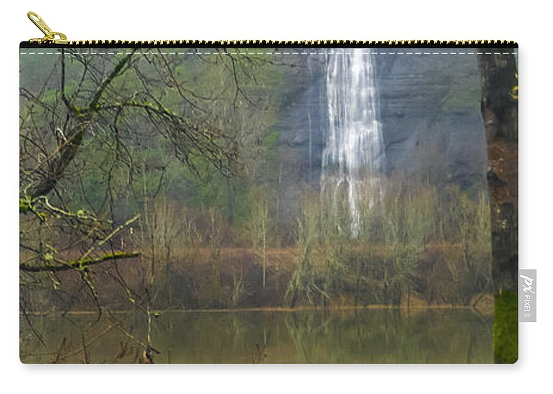 Waterfall Carry-all Pouch featuring the photograph Beneath Crown Point 2 - 060114-004 by Albert Seger