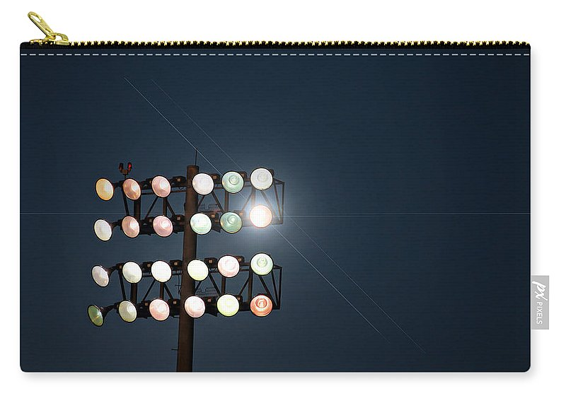 Lights Carry-all Pouch featuring the photograph Beneath Friday Night Lights by Trish Mistric