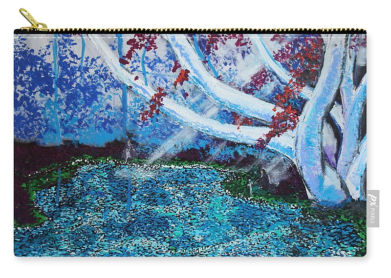 Landscape Carry-all Pouch featuring the painting Beneath The Red Tree by Stefan Duncan
