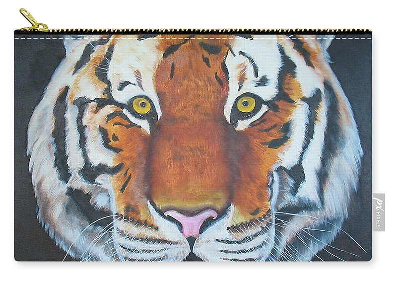 Bengal Carry-all Pouch featuring the painting Bengal Tiger by Thomas J Herring