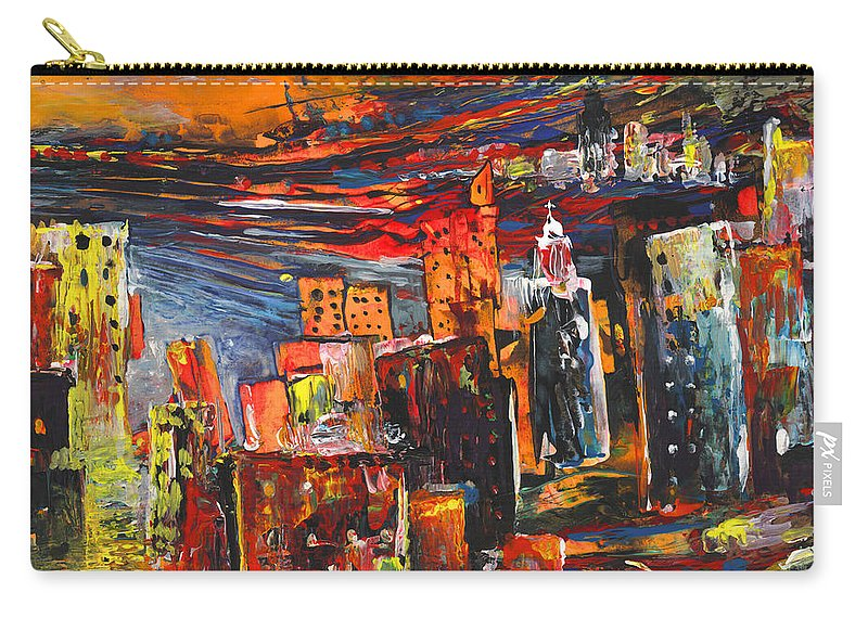 Landscapes Carry-all Pouch featuring the painting Benidorm 03 by Miki De Goodaboom
