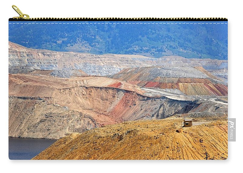 Butte Carry-all Pouch featuring the photograph Berkeley Pit by Image Takers Photography LLC - Carol Haddon