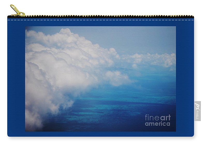 Aerial Art Clouds Travel Stock Shot In The Air Adventure Surreal Bermuda Serene Outdoors Cobalt Sea Atlantic Ocean Turquoise Water Cloud Bank Weather Contrasts The Reefs Metal Frame Recommended Canvas Print Poster Print Available On Pouches Phone Cases Shower Curtains Greeting Cards Tote Bags Mugs Weekender Tote Bags And T Shirts Carry-all Pouch featuring the photograph Bermuda Aerial # 1 by Marcus Dagan