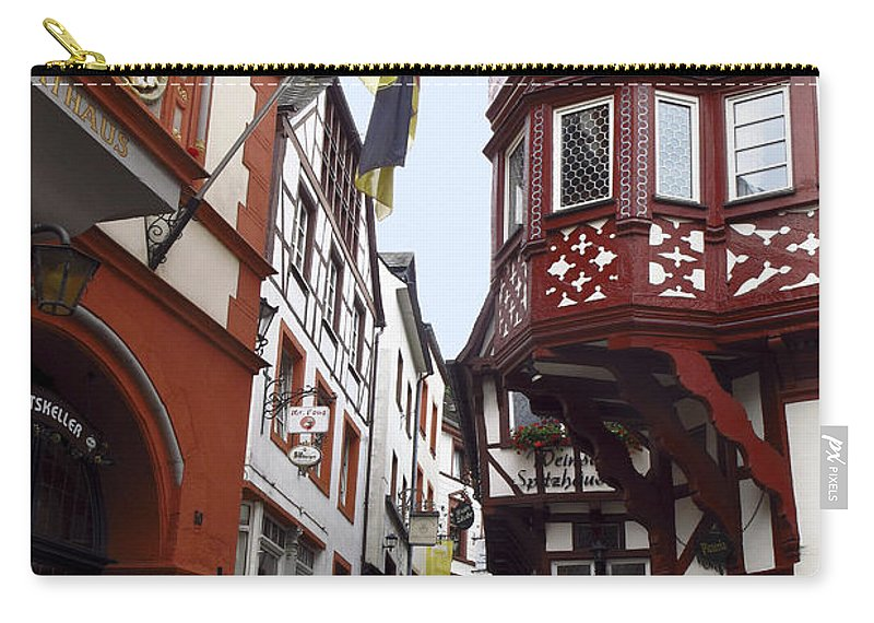 Old Buildings Carry-all Pouch featuring the photograph Bernkastel Germany by Sally Weigand