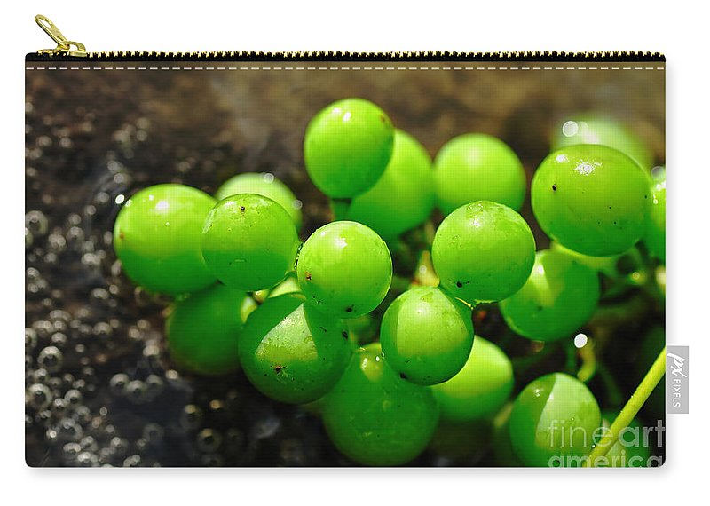 Photograhy Carry-all Pouch featuring the photograph Berries On Water by Kaye Menner