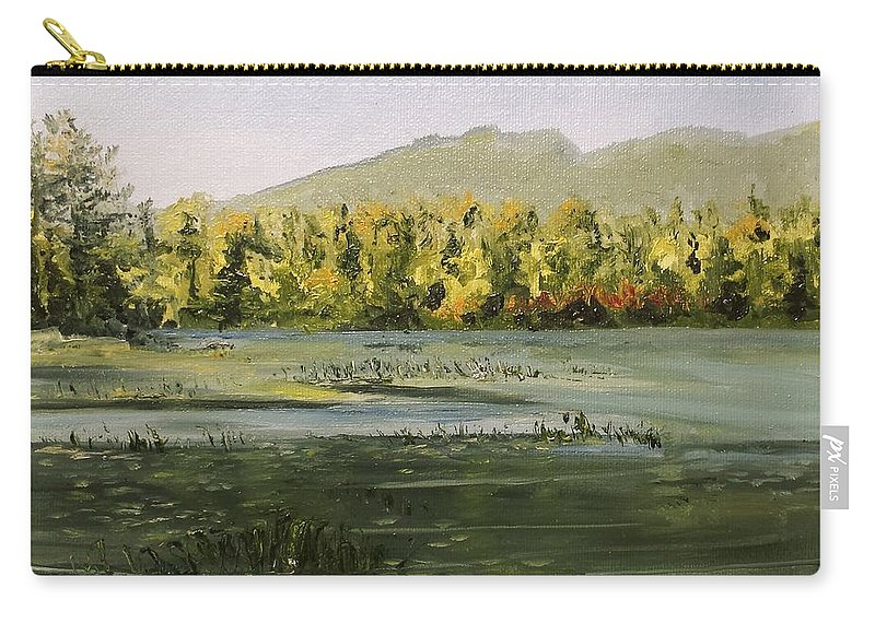 Pond Carry-all Pouch featuring the painting Berry Pond by Susan Hanna