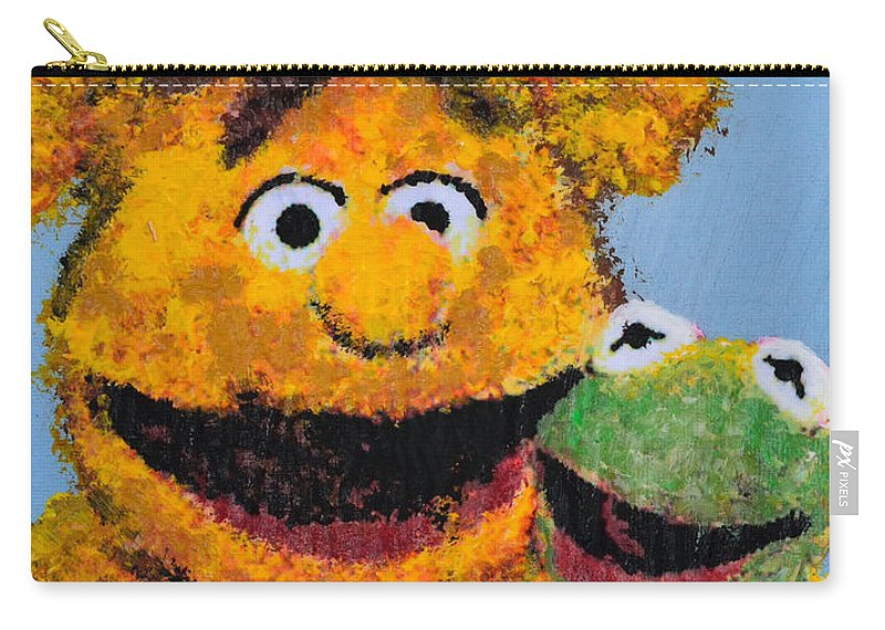 The Muppets Carry-all Pouch featuring the painting Best Friends by Alys Caviness-Gober