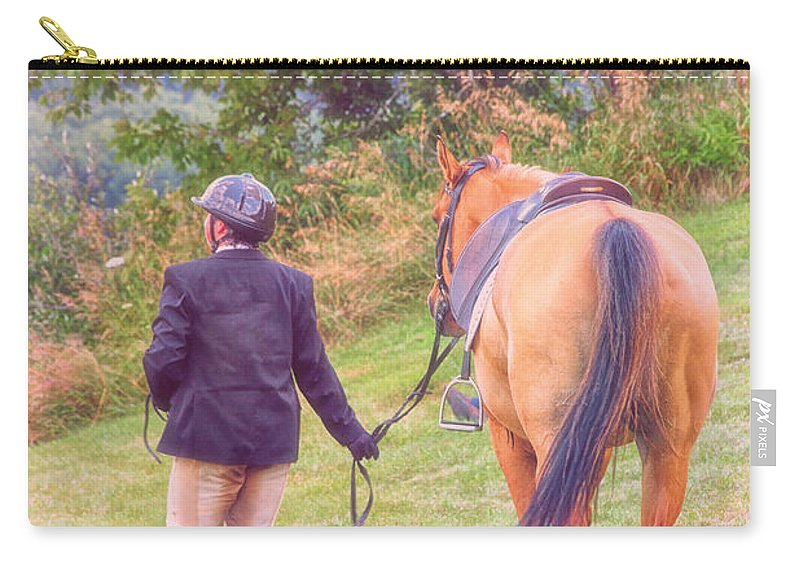 Friends Carry-all Pouch featuring the photograph Best Friends by Karol Livote