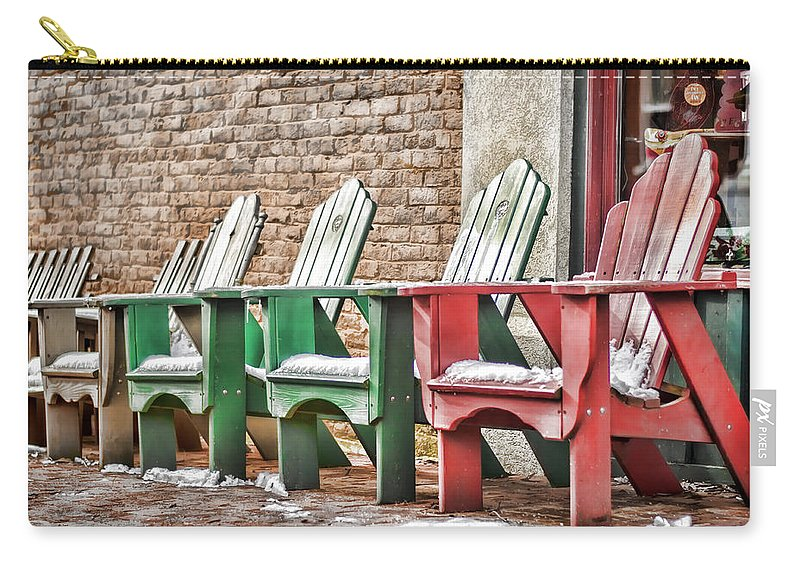 Chair Carry-all Pouch featuring the photograph Best Seats In Town by Heather Applegate