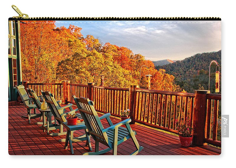Autumn Views Carry-all Pouch featuring the photograph Best View In Town by Lynn Bauer
