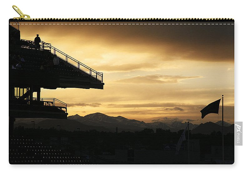 Americana Carry-all Pouch featuring the photograph Best View Of All - Rockies Stadium by Marilyn Hunt