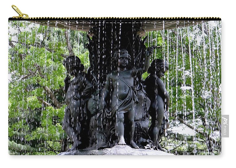 Angels Carry-all Pouch featuring the photograph Bethesda Boys by Ed Weidman