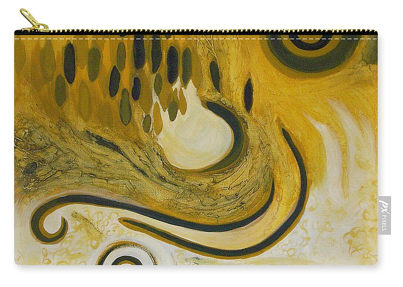 Spiritual Carry-all Pouch featuring the painting Between Heaven And Hell by Tonya Henderson