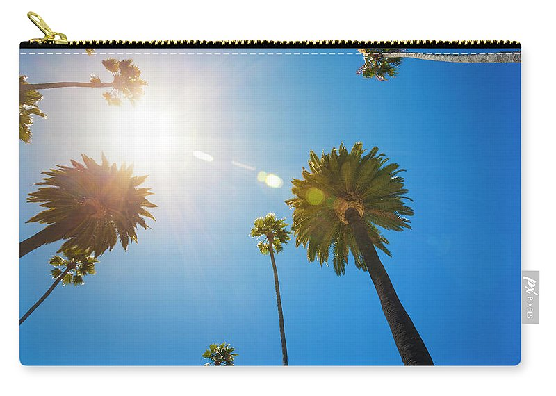 Beverly Hills Carry-all Pouch featuring the photograph Beverly Hills Palm Trees by Lpettet