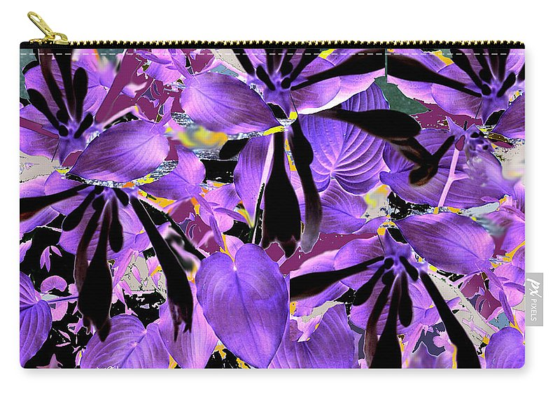 Beware The Midnight Garden Carry-all Pouch featuring the digital art Beware The Midnight Garden by Seth Weaver