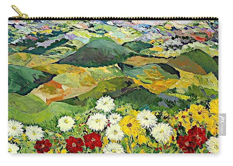 Landscape Carry-all Pouch featuring the painting Bewitching Twilight by Allan P Friedlander