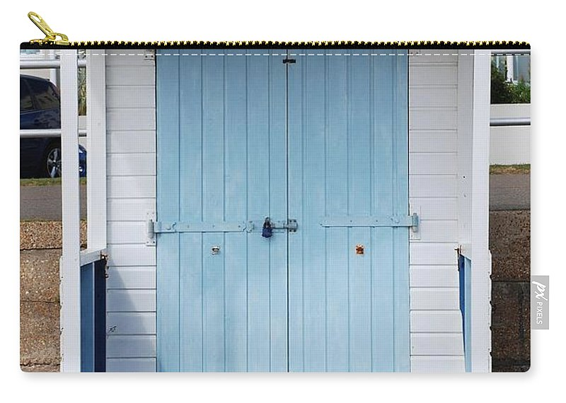 Beach Carry-all Pouch featuring the photograph Bexhill Beach Hut by David Fowler