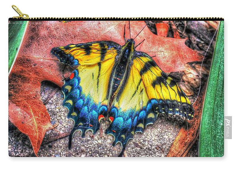 Butterfly Carry-all Pouch featuring the photograph Beyond Chrysalis-tiger Swallowtail by Dan Stone