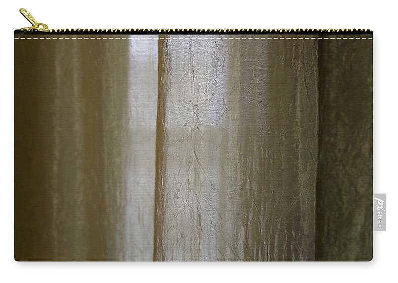Carry-all Pouch featuring the photograph Beyond The Curtain by Joseph Hedaya