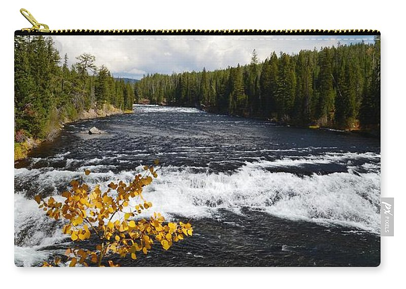 Waterfalls Carry-all Pouch featuring the photograph Beyond The Falls by Deanna Cagle