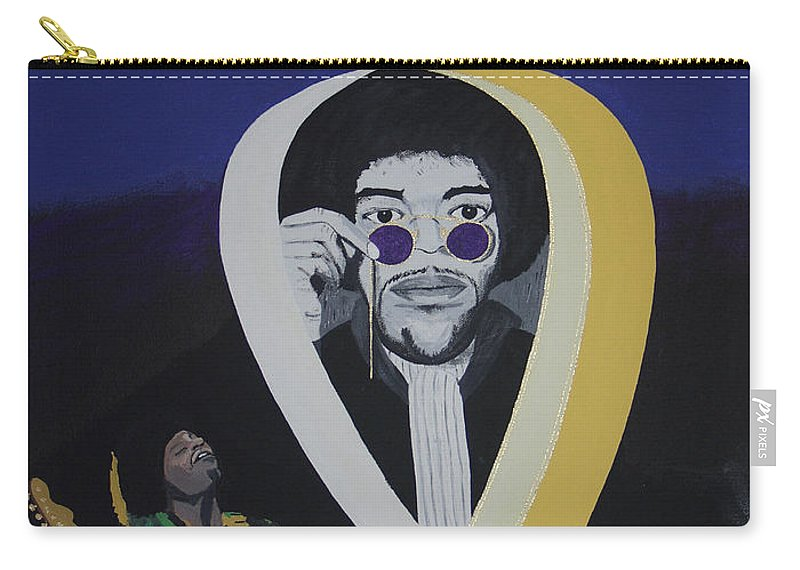Memorable Carry-all Pouch featuring the painting Beyond The Haze by Dean Stephens