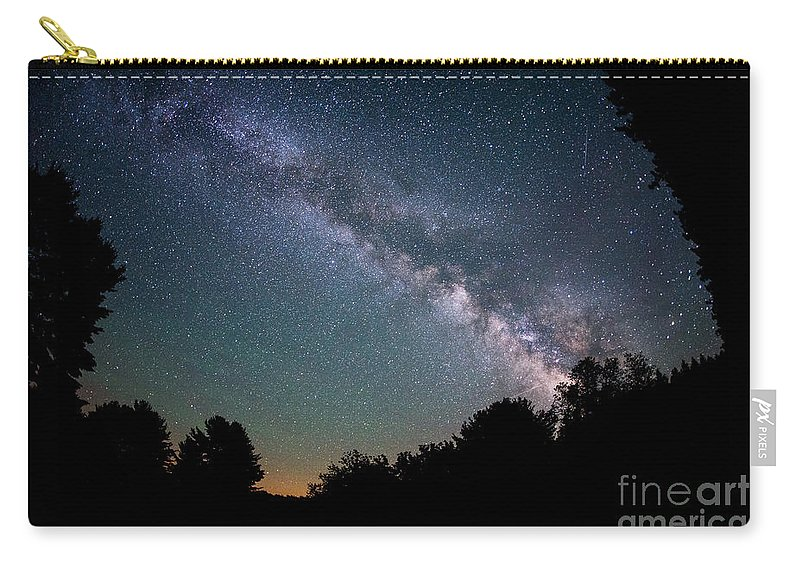Milky Way Mike Carry-all Pouch featuring the photograph Beyond The Tree Tops by Michael Ver Sprill