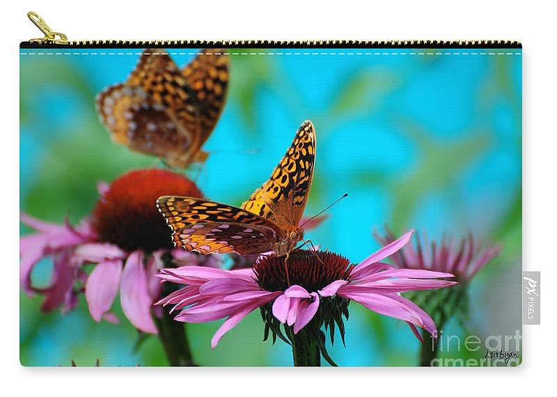 Butterfly Carry-all Pouch featuring the photograph Bff Best Friend Flutterbyes by Lois Bryan
