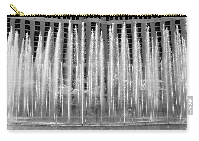 Bellagio Casino Fountains Las Vegas Nevada Carry-all Pouch featuring the photograph Bellagio Fountains Work A by David Lee Thompson
