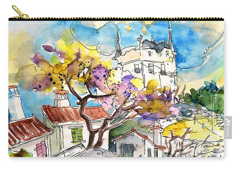 Travel Carry-all Pouch featuring the painting Biarritz 10 Bis by Miki De Goodaboom