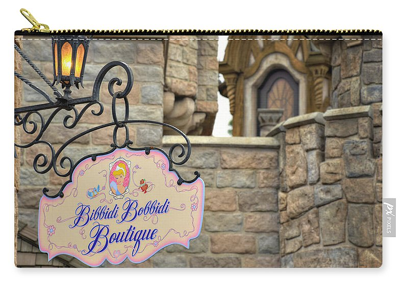 Bibbidi Carry-all Pouch featuring the photograph Bibbidi Bobbidi Boutique by Ricky Barnard