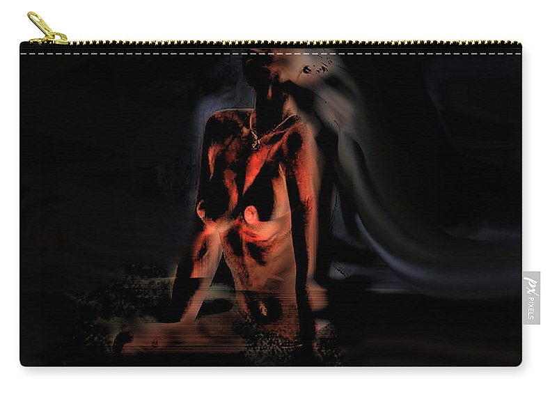 Nude Art Carry-all Pouch featuring the painting Biblical Seduction by Thomas Oliver