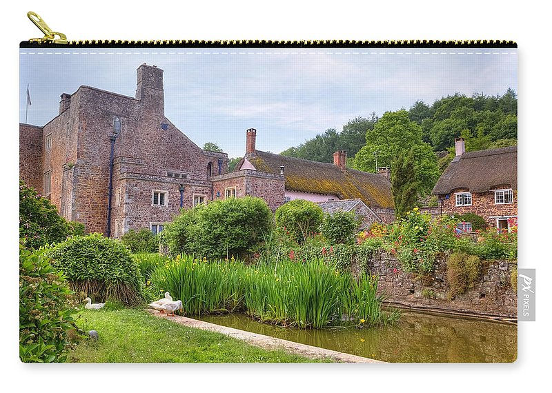 Bickleigh Carry-all Pouch featuring the photograph Bickleigh Castle - Devon by Joana Kruse