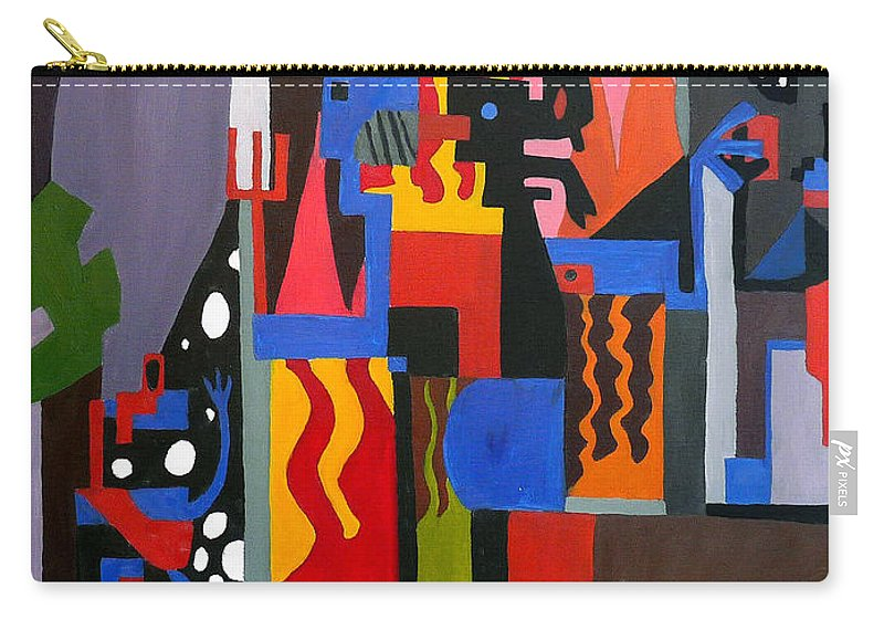 Abstract Carry-all Pouch featuring the painting Bicloptochotik by Ryan Demaree