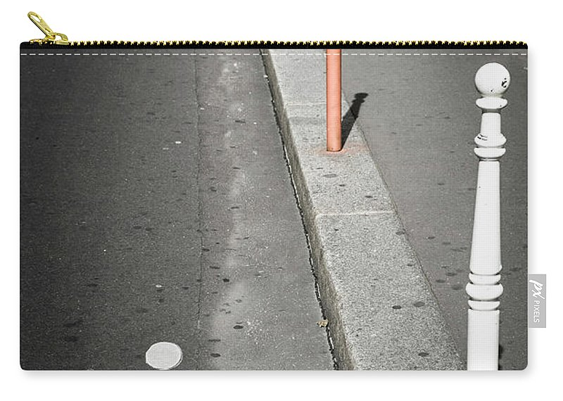 Pole Carry-all Pouch featuring the photograph Bicycle Symbol In Paris by Carlos Sanchez Pereyra