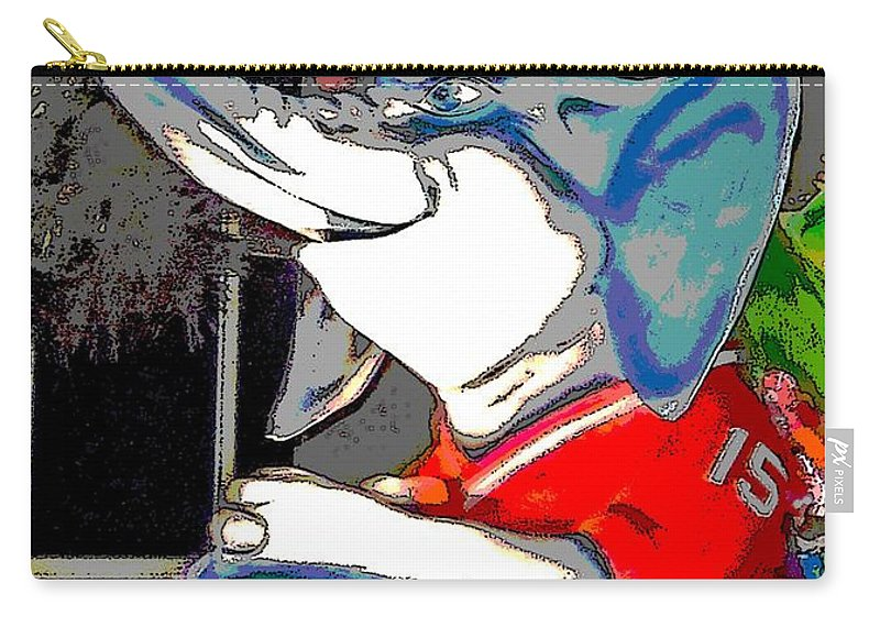 Digital Art Carry-all Pouch featuring the photograph Big Al - Bama's Mascot by Marian Bell