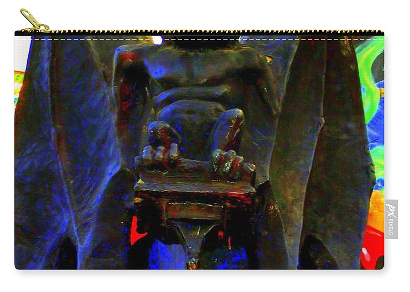 Carry-all Pouch featuring the photograph Big Bad Bat by Laurette Escobar