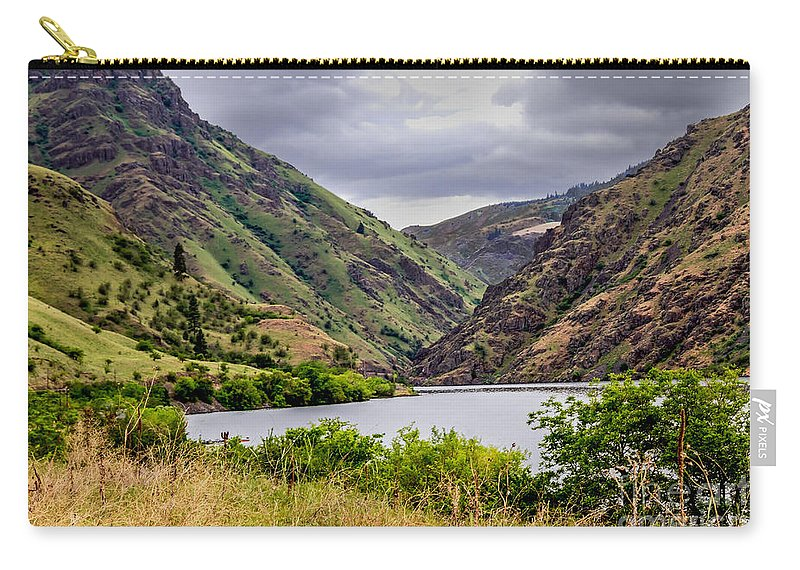 Hells Canyon Carry-all Pouch featuring the photograph Big Bar View by Robert Bales